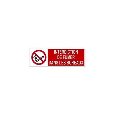 vapoter dans les bureaux panneau de sécurité d 39 interdiction picto texte
