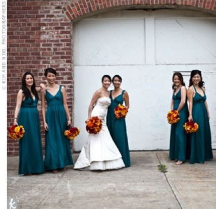 Fall Wedding Colors That Go with Teal