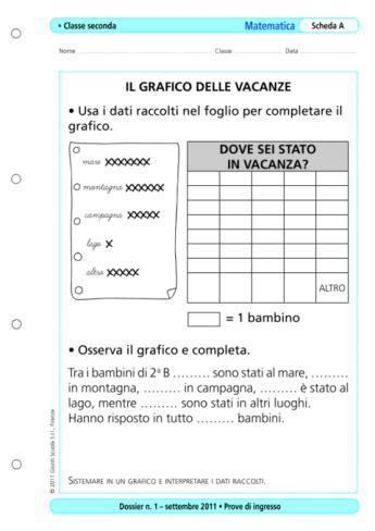 Prove D Ingresso Seconda Elementare Prove D Ingresso Matematica Classe 2 La Vita Scolastica