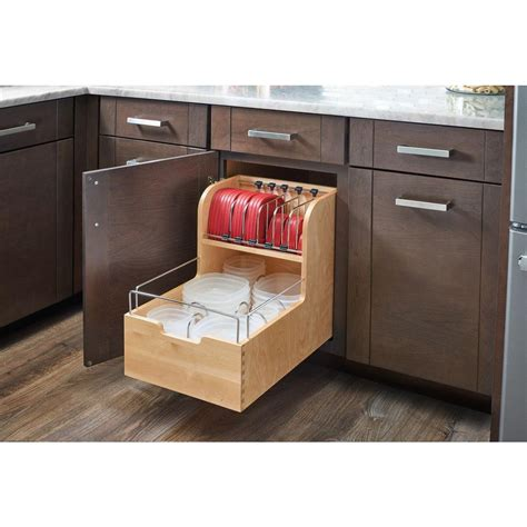 home depot kitchen cabinet organizers rev a shelf 18 88 in h x 14 5 in w x 21 56 in d wood 7083