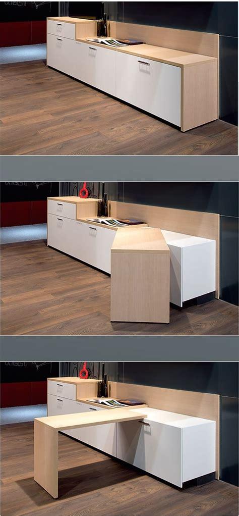 le de bureau en bois 17 meilleures idées à propos de table escamotable sur
