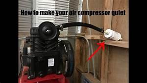 How To Make A Shop Air Compressor Muffler Under 10 Bucks