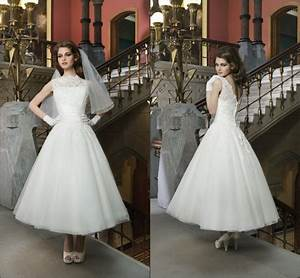 luxury high neck mid length wedding dresses women 2015 With mid length dress for wedding