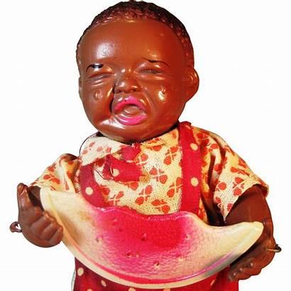 Crying Doll 1930s Japanese Watermelon Boy Pickaninny