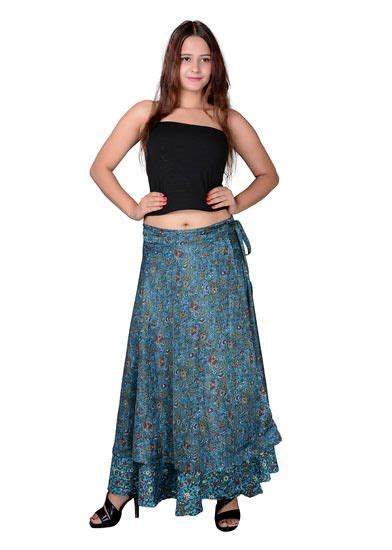 Long Wrap around skirt Moss Crepe Printed at Rs. 712 5031466 | Voonik India