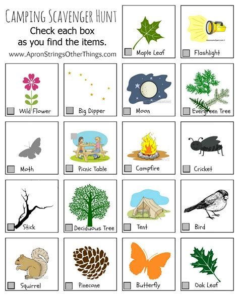 camping activities  kids printables