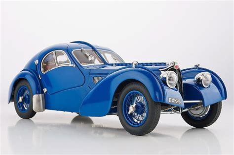 Early Bugatti Models by Cmc Models 1938 Bugatti Type 57 Sc Atlantic Blue Diecast