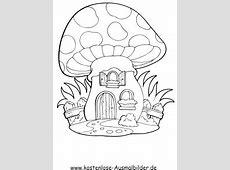Ausmalbilder Pilzhaus Gebaeude zum ausmalen
