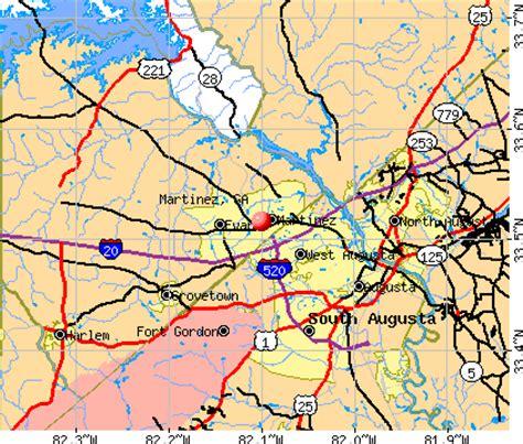 martinez georgia ga 30907 profile population maps