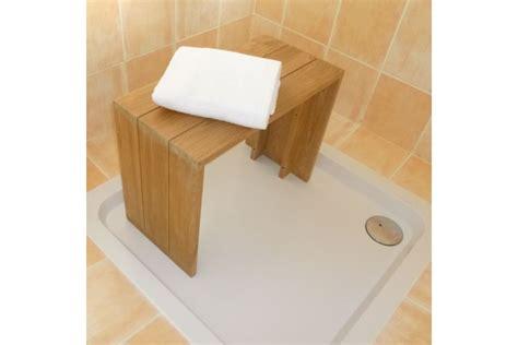 banc teck massif pour salle de bains  cm la galerie du