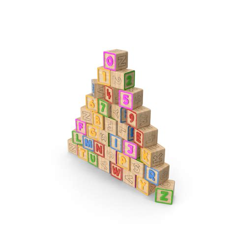 alphabet block pyramid png images psds