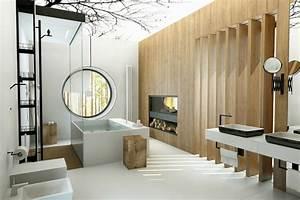 salle de bain de luxe chic et originale design feria With salle de bain design avec facade de cheminée décorative