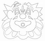 Coloring Carousel Pages Boardwalk Mouth Santa Cruz Beach Clown Looff Popular sketch template