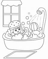 Bath Coloring Taking Clipart Shower Boy Take Bathtub Bathroom Cartoon Bubbles Useful Illustration Clipground Child Soap Smiling Station Cliparts Dreamstime sketch template