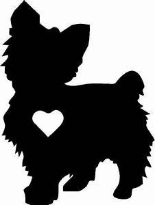 Yorkie silhouette vinyl decal/sticker cute animal Dog