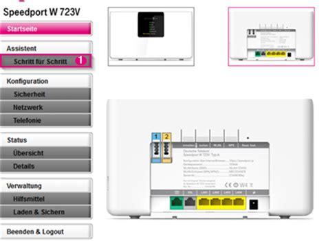 speedport telefon einrichten einrichtungsassistent speedport w 723v telekom hilfe