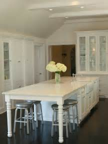 Kitchen Table Or Island Kitchen Island Traditional Kitchen West End Cabinet Company