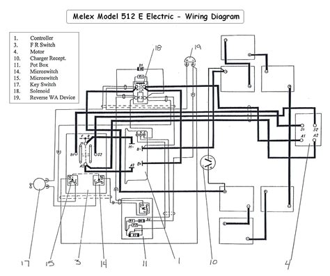 Golf Cart Wire Diagram by Ez Go Golf Cart Wiring Diagram Gas Engine Gallery