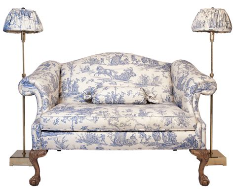 Camel Back Loveseat by Chippendale Style Camel Back Loveseat With Coordinating