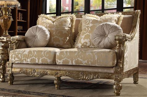 It has velvet beige sofas and chairs surrounding a victorian living room integrated with a rustic design. Antique Gold Victorian Chenille Sofa Set 2Pcs Traditional ...