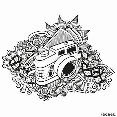 Camera Doodle Hipster Drawing Retro Appareil Macchina