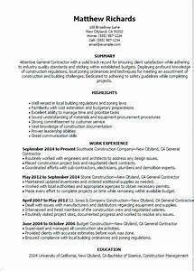 Self employed handyman resume
