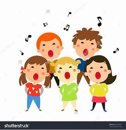 Singing Clipart Children Sing Clip Carols Kid