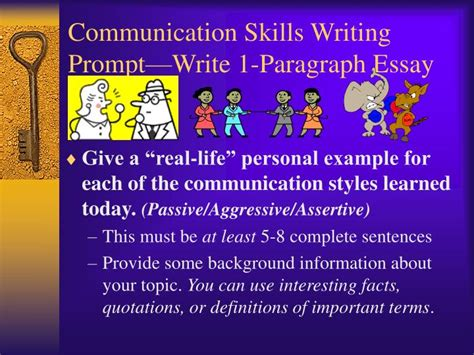 What To Write For Communication Skills In A Resume by Ppt Communication Skills Writing Prompt Write 1