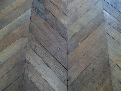 Antique Reclaimed French Oak Chevron Parquet From France