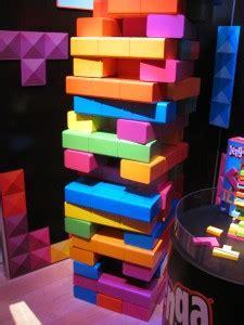giant tetris jenga  purple pawn