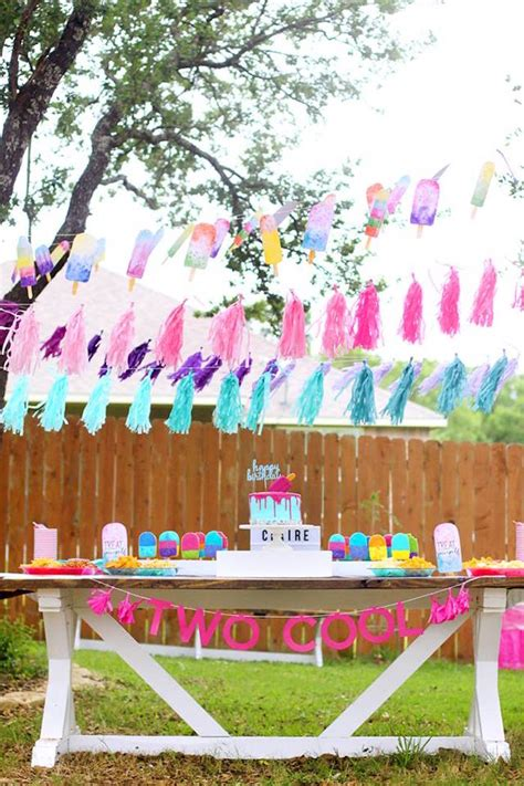 karas party ideas  cool popsicle themed birthday