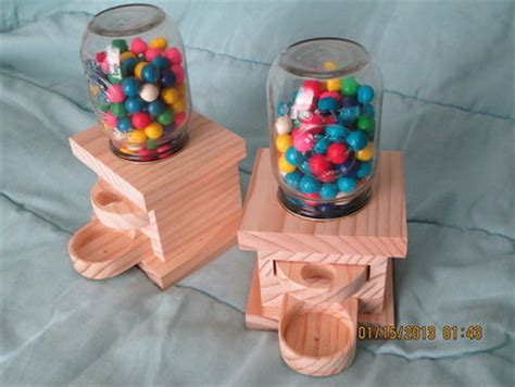 wood projects gumball machine  woodworking