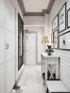 deco couloir blanc et noir With deco couloir noir et blanc