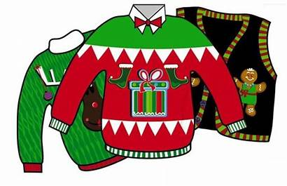 Clipart Ugly Sweater Christmas Clip Cartoon Party