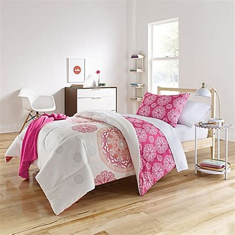 warm comforter sets brianne warm 6 8 comforter set in pink orange bed