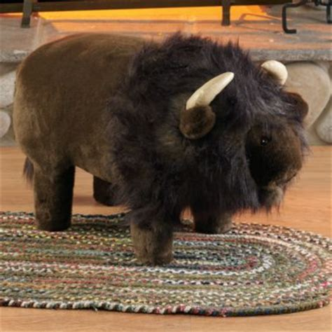 plush buffalo footstool  storage cabelas kids