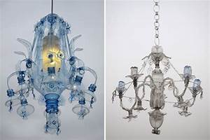 Chandeliers constructed from recycled plastic pet bottles for Chandeliers constructed from recycled plastic pet bottles by veronika richterova