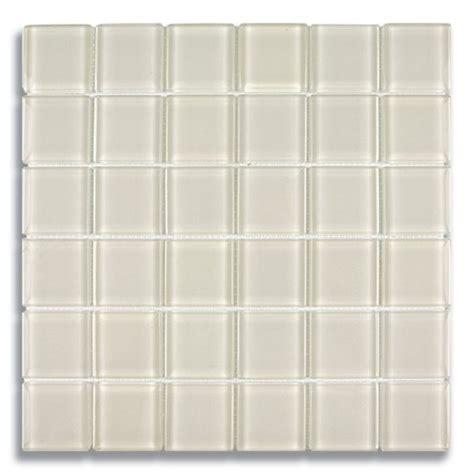 2 quot x 2 quot parchment clear glass mosaic tile akdo glass