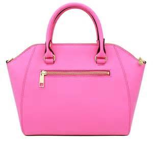 lumia pink synthetic leather bag korean fashion