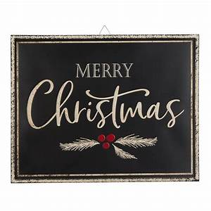 Holiday, Time, Iron, Merry, Christmas, Hanging, Sign, Decoration, 18, U0026quot, X, 23, U0026quot, -, Walmart, Com