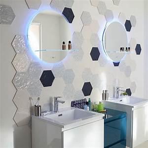 Carrelage Mural Hexagonal : carrelage mural hexagonal 17 5 x 20 cm d cor makara castorama salle de bain ~ Carolinahurricanesstore.com Idées de Décoration