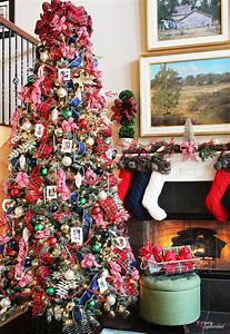 Traditional, Plaid, Christmas, Tree, Decorations