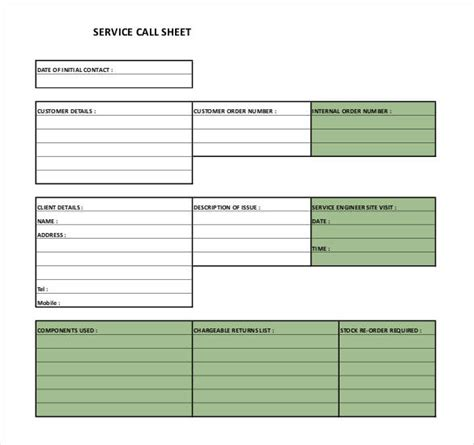 call sheet template   word  documents