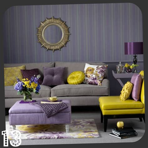 Yellow Grey And Purple Living Room by The Color Scheme Here I Think This May Be What I Do