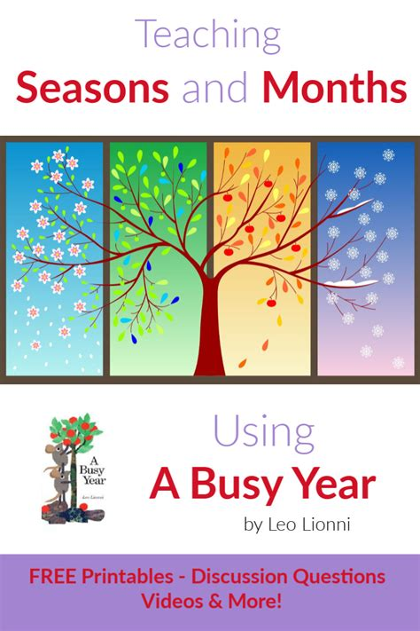 Teaching Seasons and Months Using A Busy Year - StartsAtEight