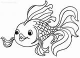 Coloring Goldfish Pages Printable Fish Gold Cool2bkids sketch template