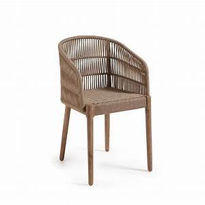 Fauteuil Jardin Bois : fauteuil de jardin en bois massif et corde kenart by ~ Teatrodelosmanantiales.com Idées de Décoration