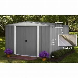 abri de jardin metal lm101067s 852 m2 ep022 mm leroy With abri de jardin leroy merlin metal