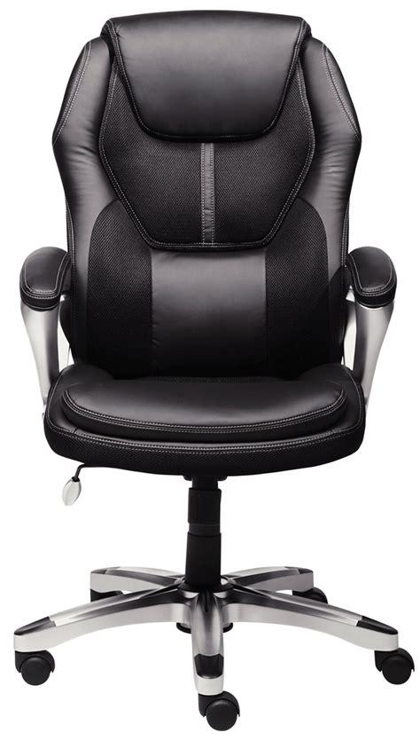 Serta Executive Chair Black Mesh by Serta 43673 Faux Leather Mesh Executive Chair Black Ebay
