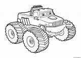 Coloring Monster Truck Bigfoot Easy Pages Printable Print sketch template